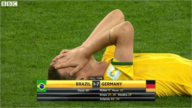 Brasil defeat to Germany 7-1